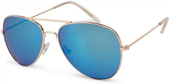 styleBREAKER Sonnenbrille »Kinder Pilotenbrille« Verspiegelt