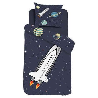 Kinderbettwäsche »Rocket«, ESPiCO, Planeten, Rakete, Weltall