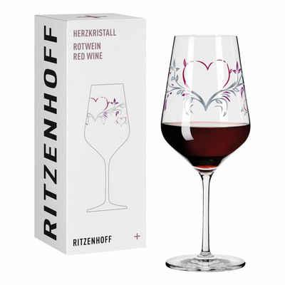 Ritzenhoff Rotweinglas »Herzkristall Rotwein 001«, Kristallglas, Made in Germany