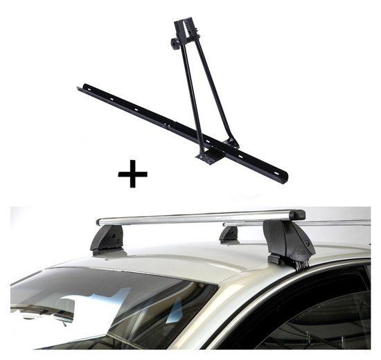 VDP Fahrradträger, Fahrradträger ORION + Dachträger K1 PRO Aluminium kompatibel mit Toyota Prius + (5Türer) ab 12
