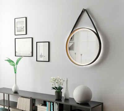 Talos Badspiegel »Golden Summer«, Durchmesser 55 cm, mit LED-Beleuchtung