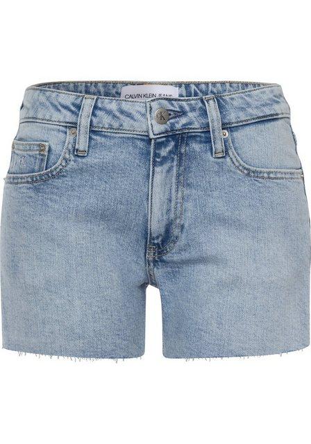 Hosen - Calvin Klein Jeans Shorts »MID RISE SHORT« in cool verwaschener Optik ›  - Onlineshop OTTO