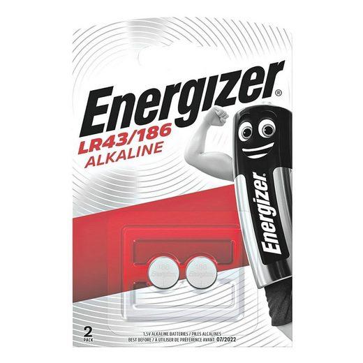 Energizer »Spezial Alkali« Knopfzelle, (2 St), LR43, lange Lebensdauer