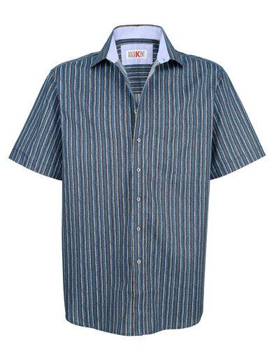 Roger Kent Hemd mit Streifendruckmuster