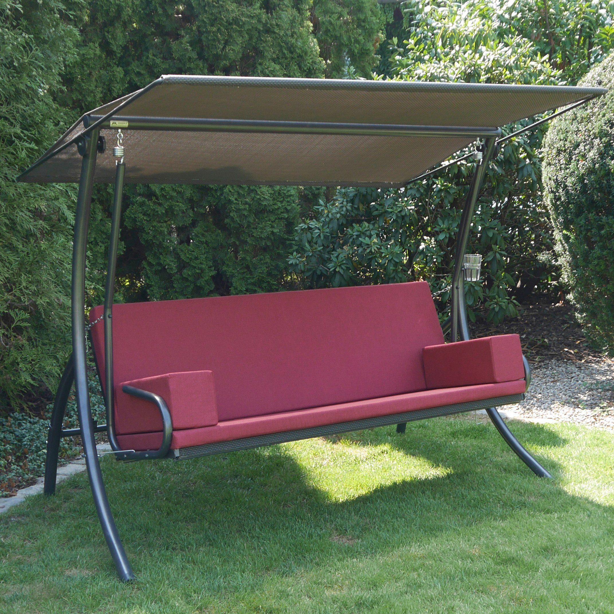 Auflage f/ür 3-Sitzer-Hollywoodschaukel oder gro/ße Gartenbank in Gr/ün Gartenm/öbel-Auflage