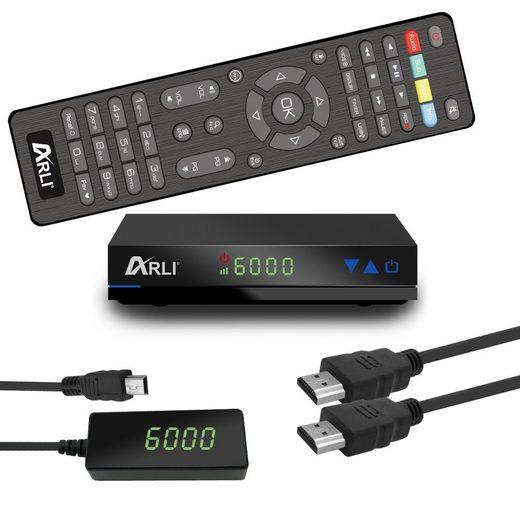 ARLI »HD AH1 Satellitenreceiver DVB-S2« 1 SAT-Receiver (Mini HD Sat Receiver mit vielen Funitionen, HDMI, USB, externes Netzteil)