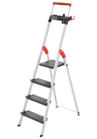Hailo Stehleiter »L100« 4 Stufen max. Arbeit...