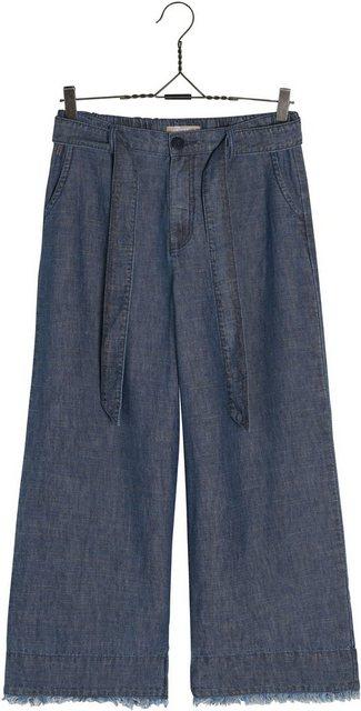 NILE Weite Jeans aus Leinen-Baumwoll-Mix | Bekleidung > Jeans > Weite Jeans | NILE