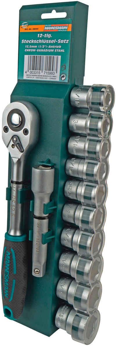 Brüder Mannesmann Werkzeuge Stecknüsse, Set, 12-St.
