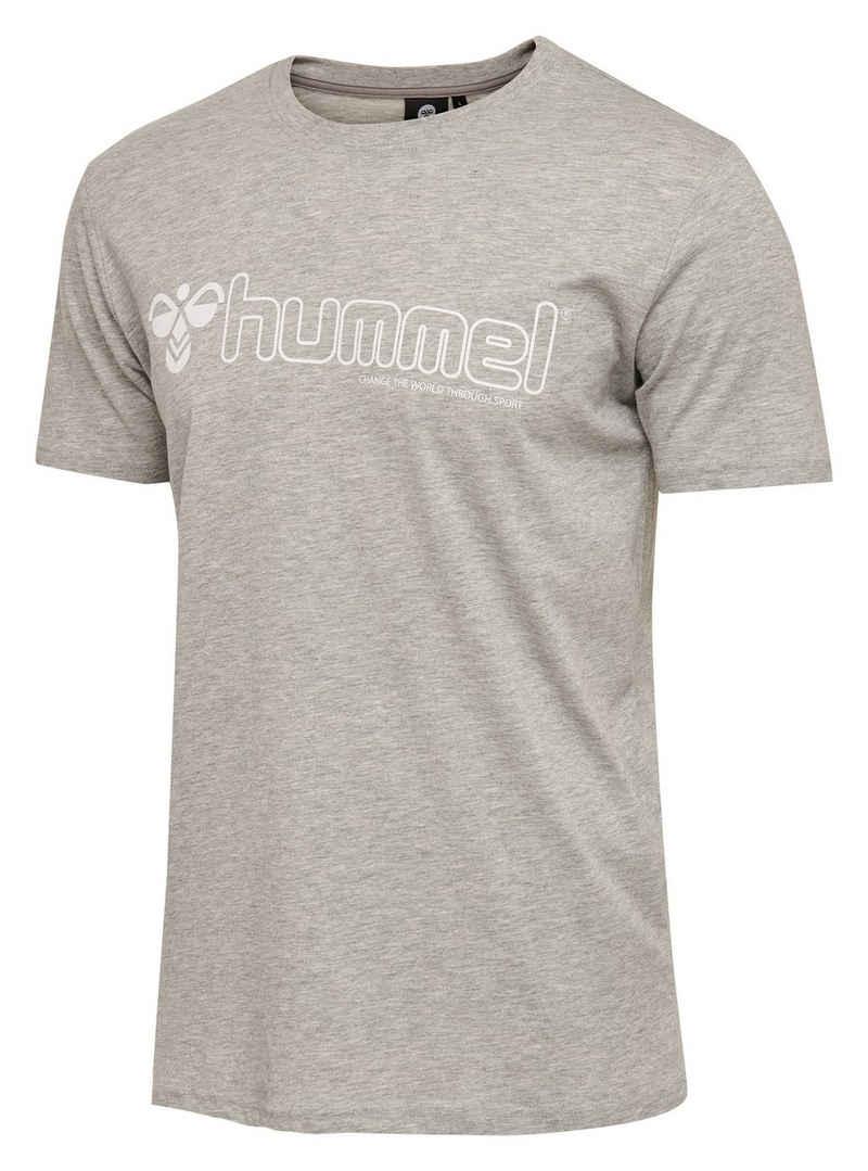 hummel T-Shirt Herren TShirt MARCEL Grau Baumwolle Freizeit Sommer Shirt Sport