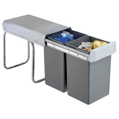 WESCO Einbaumülleimer »Abfallsammler Profi-Double-Boy 30 DT Einbau Mülleimer Abfalleimer 2x 15 L«