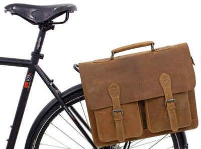Gusti Leder Fahrradtasche »Marc«, Umhängetasche Riementasche Schultertasche Fahrradtasche Ledertasche