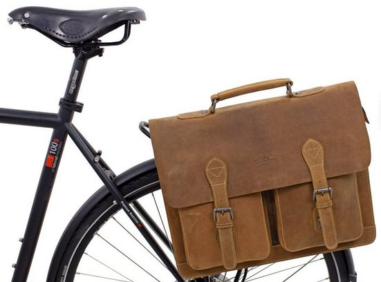 Gusti Leder Fahrradtasche »Marc«, Umhängetasche Riementasche Schultertasche Fahrradtasche mit Klickfix-Adapter