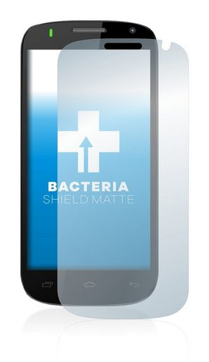upscreen Schutzfolie »für Logicom S450«, Folie Schutzfolie matt entspiegelt antibakteriell