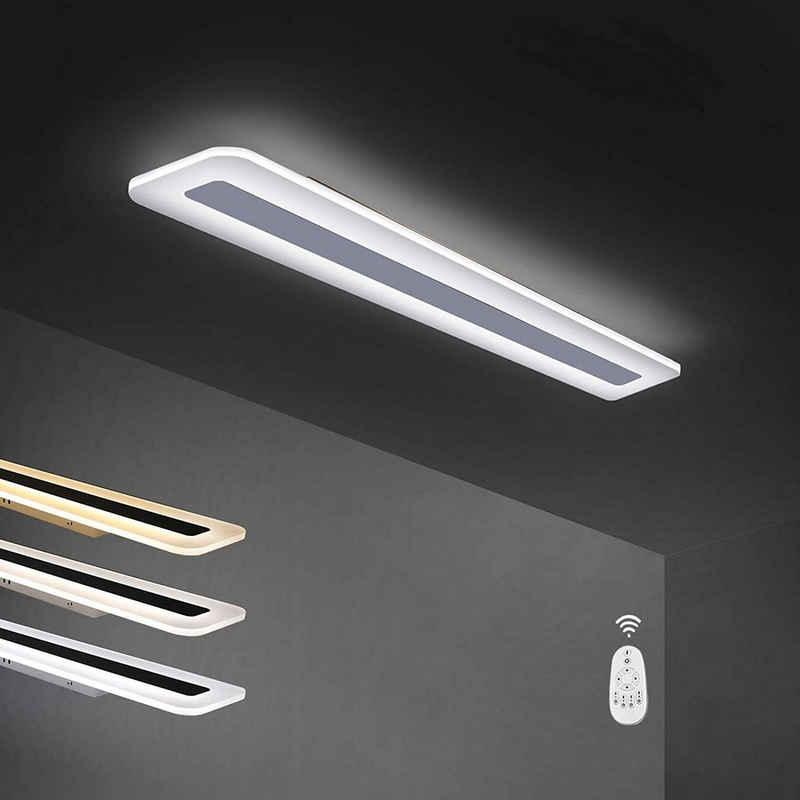 ZMH LED Deckenleuchte »Deckenleuchte Panel dimmbar mit Fernbedienung aus Metall und Acryl weiße Bürolampe für Wohnzimmer Schlafzimmer Flur Küche Balkon«
