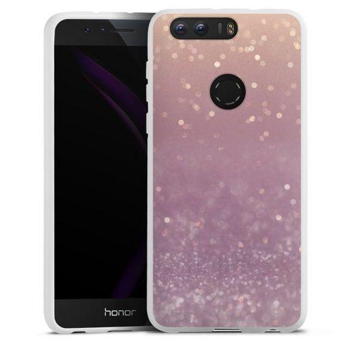 DeinDesign Handyhülle »Tender Gleam Glitterlook« Huawei Honor 8, Hülle Glitzer Look Schneeflocken Muster
