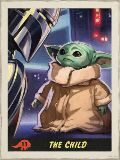 Komar Wandbild »Mandalorian The Child Trading Card«, Disney, Star Wars (1 Stück), 30 x 40 cm (Breite x Höhe) - 1 Teil