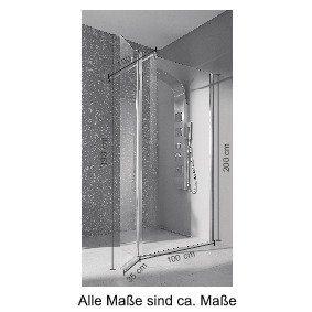 Duschen und Zubehör - welltime Walk in Dusche »Mailand«, Einscheibensicherheitsglas, Breite 100 cm, Duschabtrennung  - Onlineshop OTTO