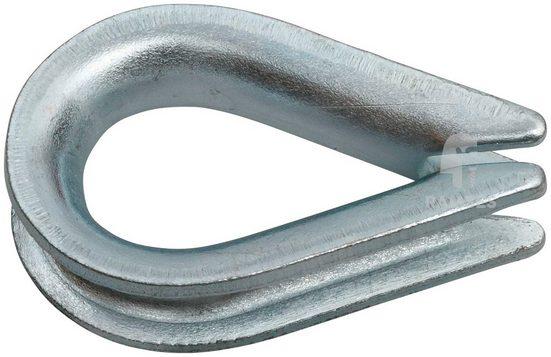 RAMSES Kausche , 7 mm Stahl verzinkt 20 Stück