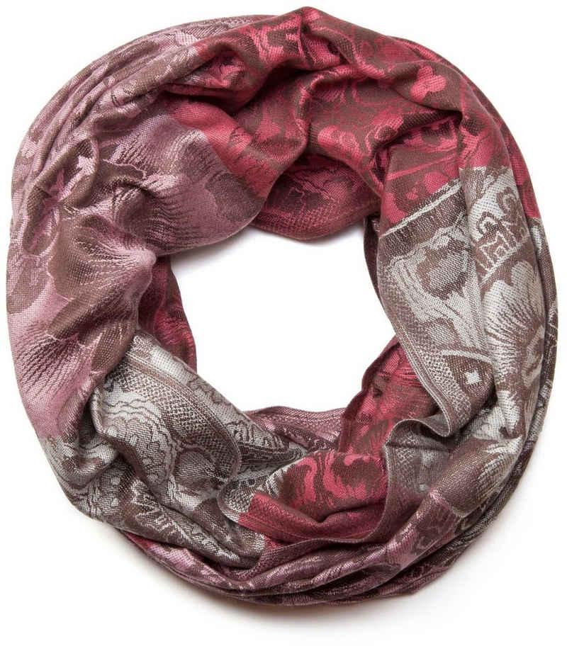 styleBREAKER Loop »Loop mit Hibiskus Blüten und Paisley Muster« Loop mit Hibiskus Blüten und Paisley Muster