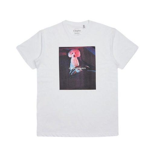 Cleptomanicx T-Shirt »Dog Driver Boxy Tee« Großer Frontprint kleiner Rückenprint