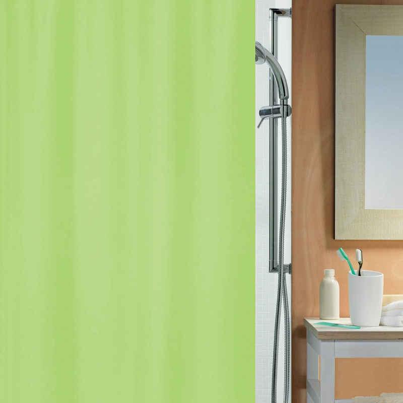 spirella Duschvorhang »ALEA« Breite 180 cm, Anti-Schimmel Textil-Duschvorhang, Polyester, 180x200 cm, waschbar