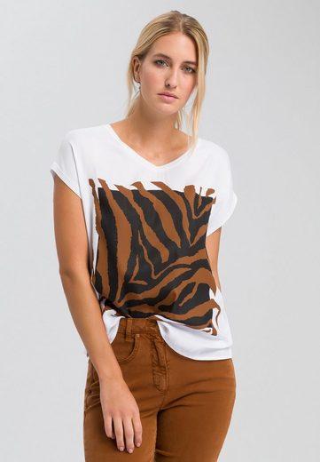 MARC AUREL T-Shirt mit Tiger-Frontprint