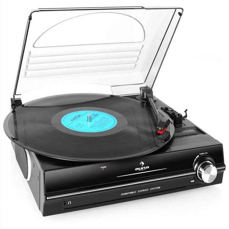 Auna »928 Plattenspieler integrierte Lautsprecher 33 45 RPM« Plattenspieler