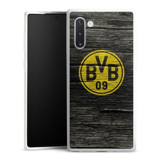 DeinDesign Handyhülle »BVB Holzoptik« Samsung Galaxy Note 10, Hülle Borussia Dortmund BVB Holzoptik