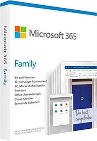 Microsoft Office 365 Family (Officeprogramm, Lizenzschlüssel)