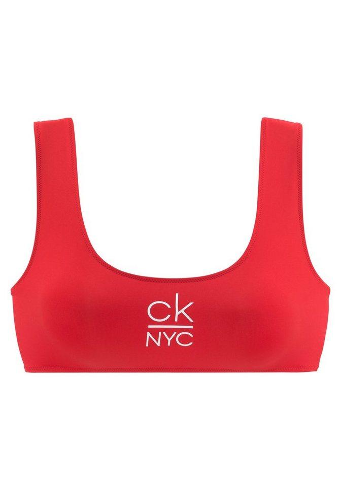 Bademode - Calvin Klein Bustier Bikini Top, mit Calvin Klein Logo › rot  - Onlineshop OTTO