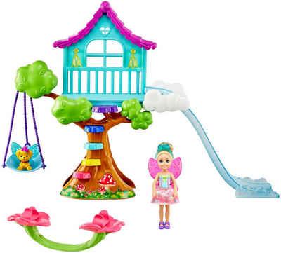 Barbie Puppenhaus »Dreamtopia Chelsea Feen-Baumhaus-Spielset mit Puppe«