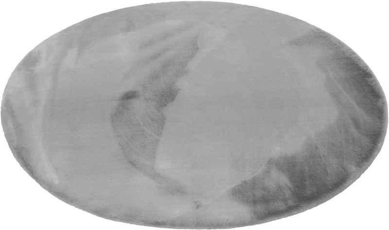 Hochflor-Teppich »Alice«, Esprit, rund, Höhe 25 mm, Kunstfell, Kaninchenfell-Haptik, Wohnzimmer