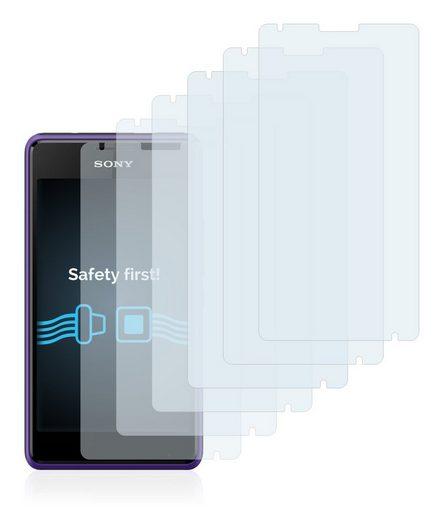 Savvies Schutzfolie »für Sony Xperia E1 D2004 / D2005«, (6 Stück), Folie Schutzfolie klar