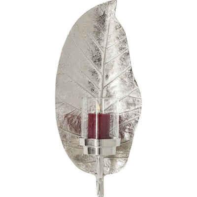 KARE Kerzenständer »Kerzenhalter Leaf Silber«