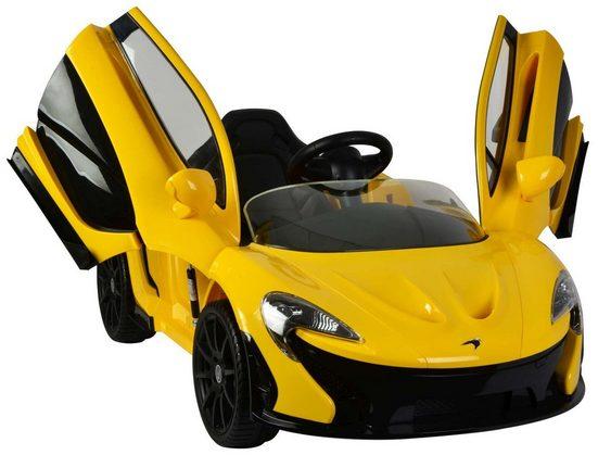LeNoSa Elektro-Kinderauto »McLaren P1 - Gelb - Elektroauto mit Fernbedienung - 12 Volt«, Belastbarkeit 30 kg