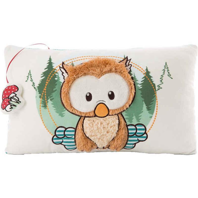 Nici Dekokissen »Kissen Baby-Eule Owlino rechteckig, 43x25 cm«