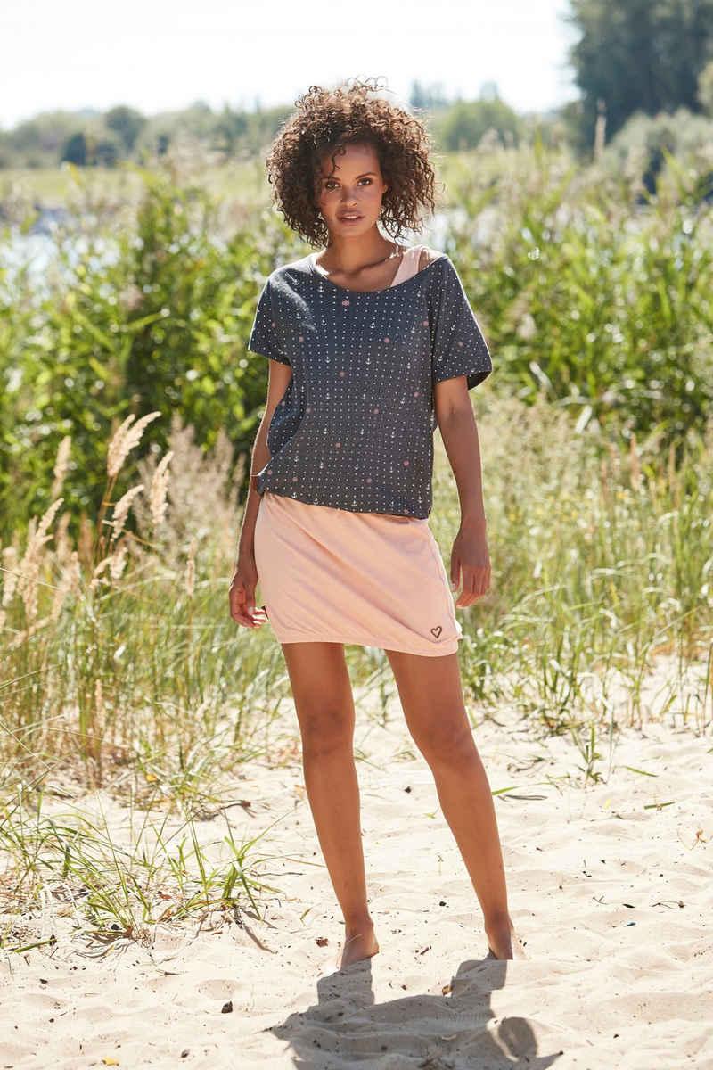Alife & Kickin Jerseykleid »SunnyAK« (Set, 2-tlg., mit T-Shirt) sommerlicher Zweiteiler - Kleid & Shirt