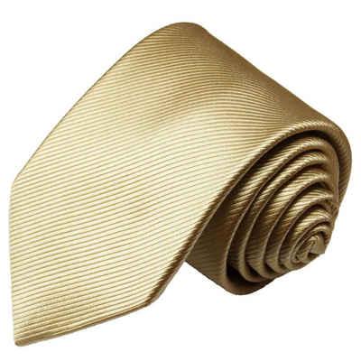 Paul Malone Krawatte »Designer Seidenkrawatte Herren Schlips modern uni 100% Seide« Schmal (6cm), gold 804