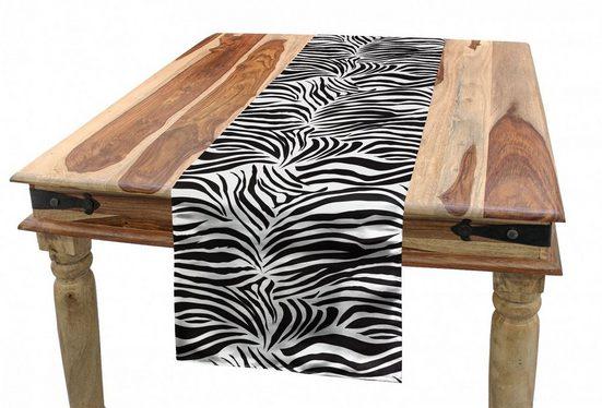 Abakuhaus Tischläufer »Esszimmer Küche Rechteckiger Dekorativer Tischläufer«, Schwarz-Weiss Wilde Zebra-Linien