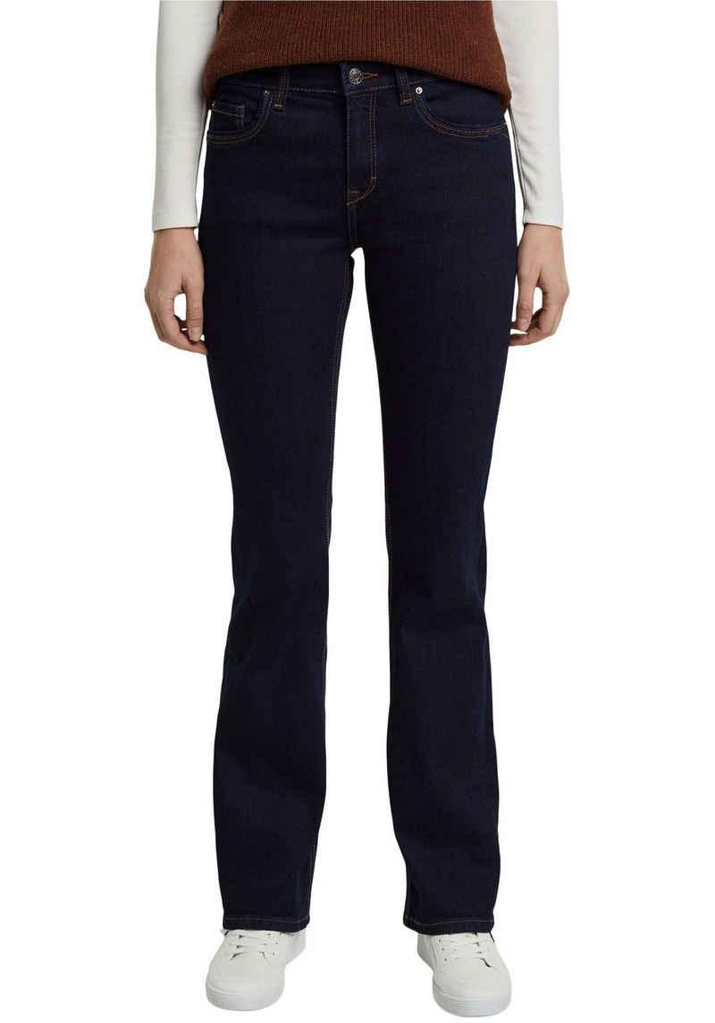 Esprit Bootcut-Jeans aus Stretch-Denim mit leichten Washed- und Used Effekten