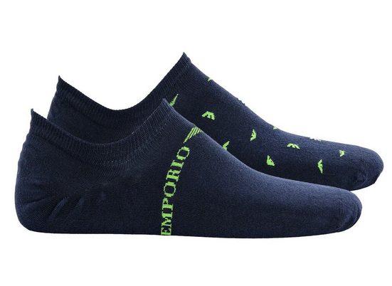 Emporio Armani Kurzsocken »Herren Füßlinge, 2 Paar - Logodruck«