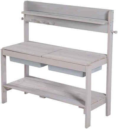 roba® Outdoor-Spielküche »Gartenküche FUN Outdoor+« Holz, Kunststoff, grau