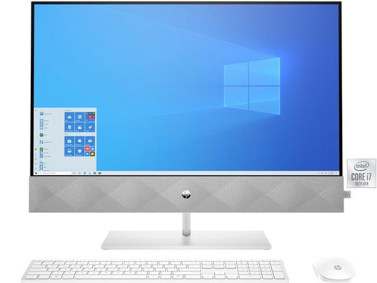 HP 24-k0011ng All-in-One PC (23,8 Zoll Intel® Core i7 10700T, UHD Graphics 630, 8 GB RAM, 512 GB SSD, 60,45 cm (23,8) Intel Core i7, 512GB, 8 GB)