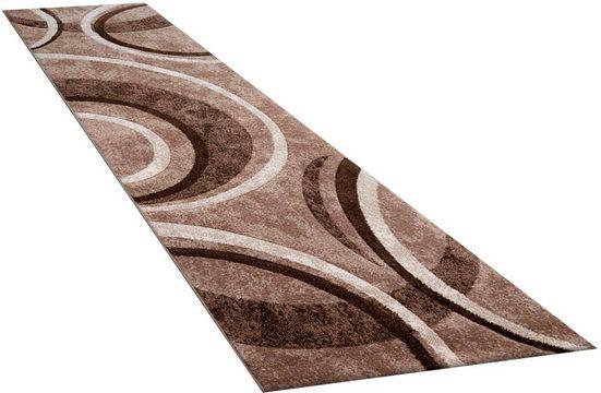 Läufer »Brillance 758«, Paco Home, rechteckig, Höhe 18 mm, Teppich-Läufer, Kurzflor, gewebt, mit geometrischem Design