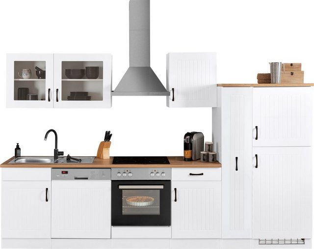 Einbauküchen - HELD MÖBEL Küchenzeile »Athen«, ohne E Geräte, Breite 310 cm  - Onlineshop OTTO