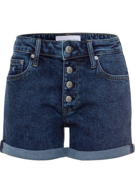Hosen - Calvin Klein Jeans Shorts »MID RISE SHORT ROLLED« mit gekrempeltem Hosensaum ›  - Onlineshop OTTO