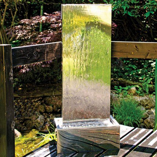 """Köhko Gartenbrunnen »Köhko Springbrunnen """"MURO """" mit LED-Beleuchtung aus Edelstahl Wasserwand Wasserspiel für Garten Terrasse«"""
