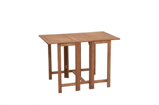 MERXX Gartentisch »Holz«, Eukalyptusholz, klappbar, 107x65 cm