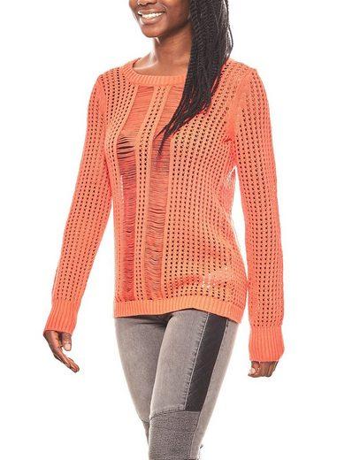 Corley originals Strickpullover »CORLEY Pulli Damen Grobstrick-Pullover Rot«